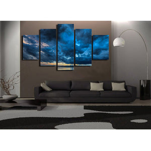 Oil dark clouds Abstract 5 Panel Wall Art Canvas Painting 5 Panels Wood N Canvas Wall Art Paintings