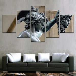 Perseus Medusa Slayer 5 Panels Wood N Canvas Wall Art Paintings
