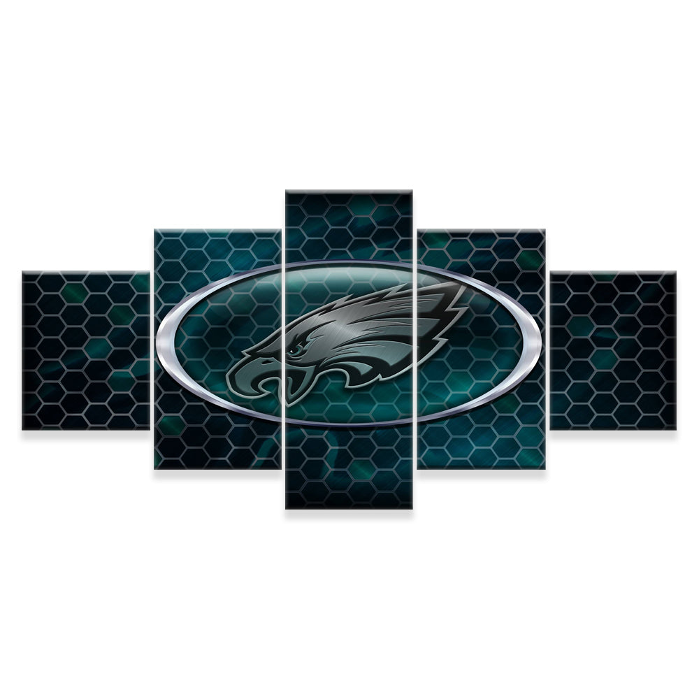 Philadelphia Eagles 5 Panels Wood N Canvas Wall Art Paintings