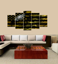 Load image into Gallery viewer, Philadelphia Eagles logo 5 Panels Wood N Canvas Wall Art Paintings