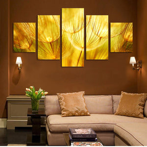 Quartz crystal 5 Panels Wood N Canvas Wall Art Paintings