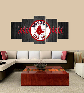 RedSox 5 Panels Wood N Canvas Wall Art Paintings