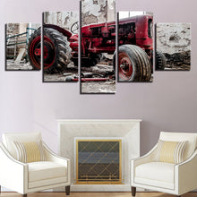 Load image into Gallery viewer, Retro Car 5 Panels Wood N Canvas Wall Art Paintings