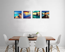 Load image into Gallery viewer, Sailboat Lighthouse 4 Panels Wood N Canvas Wall Art Paintings