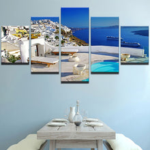 Load image into Gallery viewer, Santorini 5 Panels Wood N Canvas Wall Art Paintings
