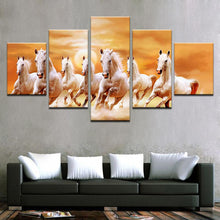 Load image into Gallery viewer, Seven Horses 5 Panels Wood N Canvas Wall Art Paintings