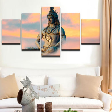 Shiva Sky 5 Panels Wood N Canvas Wall Art Paintings