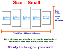 Load image into Gallery viewer, Wooden Guitar 5 Panels Wood N Canvas Wall Art Paintings