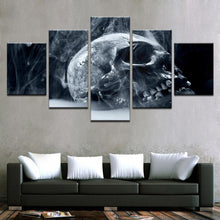 Load image into Gallery viewer, Smoked Skull 5 Panels Wood N Canvas Wall Art Paintings