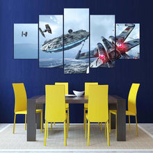 Load image into Gallery viewer, Spaceship-1 5 Panels Wood N Canvas Wall Art Paintings