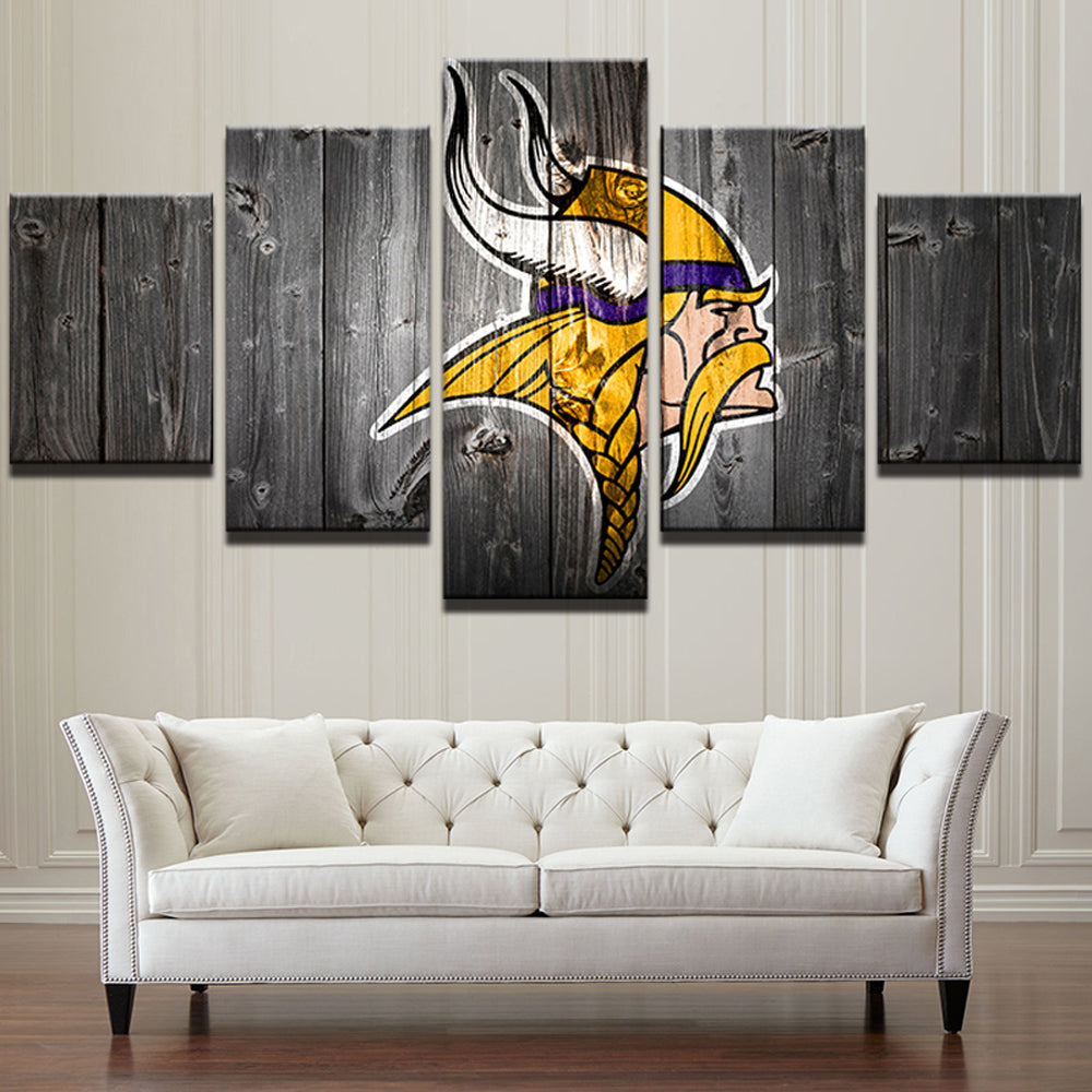 Sport logo 5 Panels Wood N Canvas Wall Art Paintings