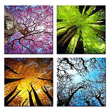 Load image into Gallery viewer, Spring Summer Autumn Winter 4 Panels Wood N Canvas Wall Art Paintings