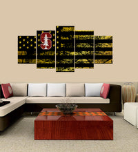 Load image into Gallery viewer, Stanford Cardinal logo 5 Panels Wood N Canvas Wall Art Paintings
