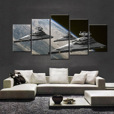 Movie Poster-2 5 Panel Wall Art Canvas Painting 5 Panels Wood N Canvas Wall Art Paintings
