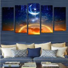 Load image into Gallery viewer, Starry Sky 5 Panels Wood N Canvas Wall Art Paintings