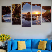 Load image into Gallery viewer, Sunrise-1 5 Panels Wood N Canvas Wall Art Paintings