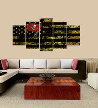 Load image into Gallery viewer, Tampa Bay Buccaneers logo 5 Panels Wood N Canvas Wall Art Paintings