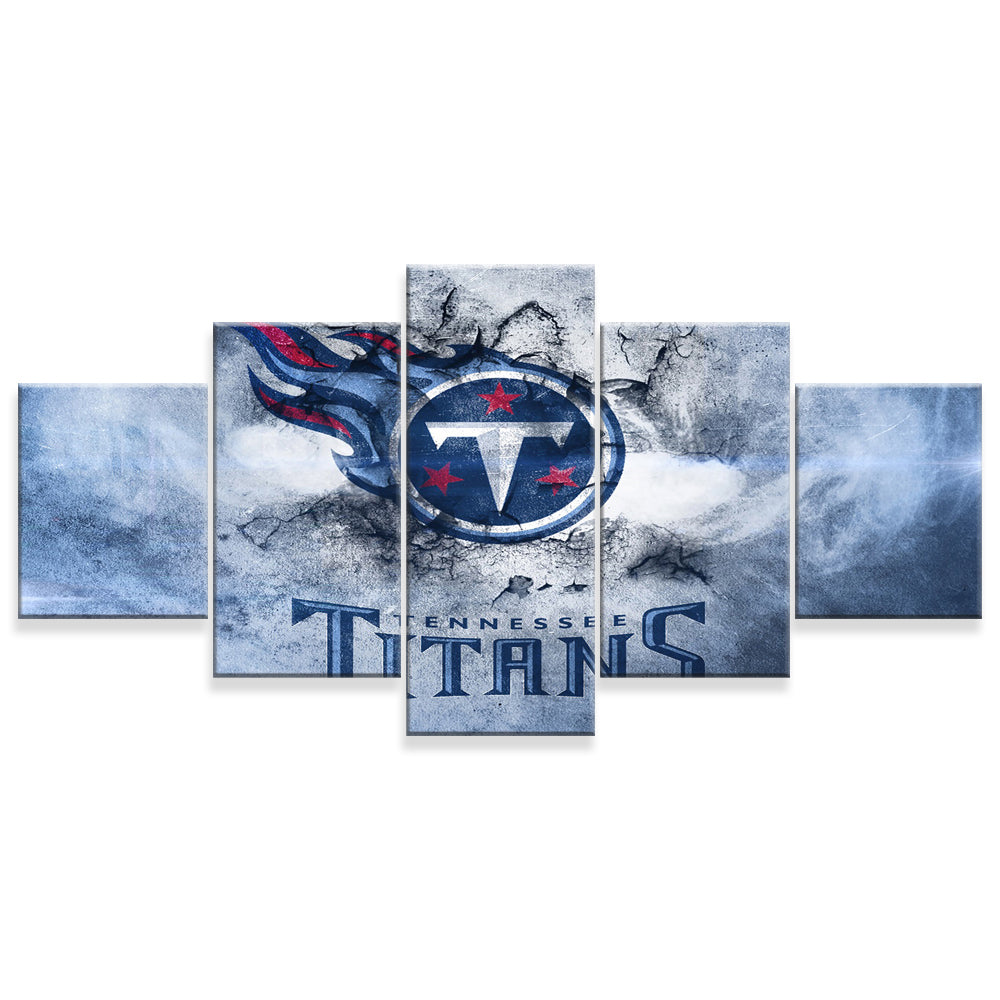 Tennessee Titans 5 Panels Wood N Canvas Wall Art Paintings