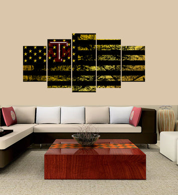 Texas A and M Aggies logo 5 Panels Wood N Canvas Wall Art Paintings