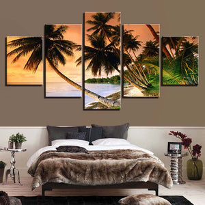 The Coconut 5 Panels Wood N Canvas Wall Art Paintings