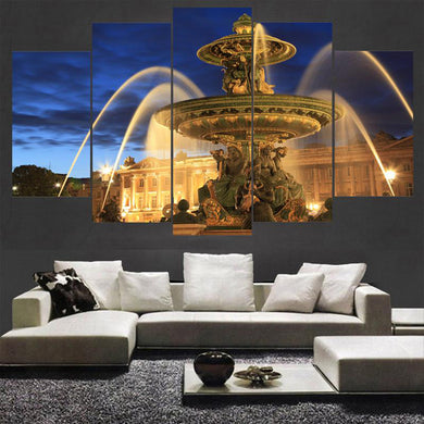 The Fountain of Youth 5 Panels Wood N Canvas Wall Art Paintings