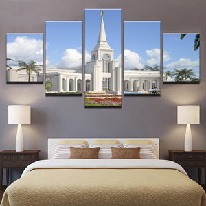 The Mission 5 Panels Wood N Canvas Wall Art Paintings