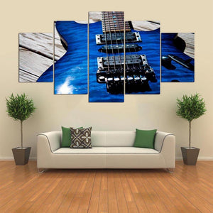 The Only Guitar 5 Panels Wood N Canvas Wall Art Paintings
