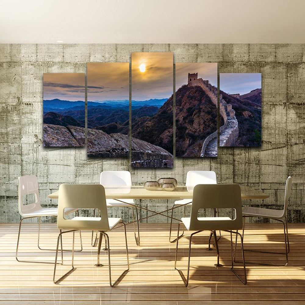 The Wall of China 5 Panels Wood N Canvas Wall Art Paintings