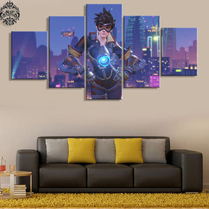 Tracer 5 Panels Wood N Canvas Wall Art Paintings