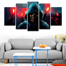 Load image into Gallery viewer, Undead Revolution 5 Panels Wood N Canvas Wall Art Paintings