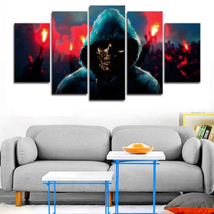 Undead Revolution 5 Panels Wood N Canvas Wall Art Paintings