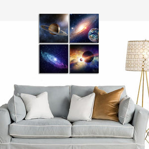 Universal Magic Power 4 Panels Wood N Canvas Wall Art Paintings