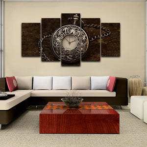 Watch 5 Panels Wood N Canvas Wall Art Paintings
