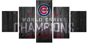 champions 5 Panels Wood N Canvas Wall Art Paintings