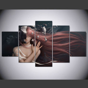 elfen lied 5 Panels Wood N Canvas Wall Art Paintings
