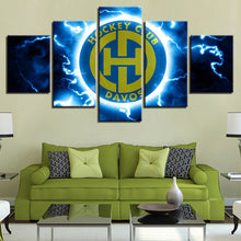 Load image into Gallery viewer, hockey club logo 5 Panels Wood N Canvas Wall Art Paintings