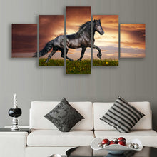 Load image into Gallery viewer, horse animal 5 Panels Wood N Canvas Wall Art Paintings