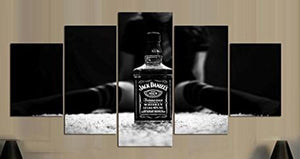 jack daniels 5 Panels Wood N Canvas Wall Art Paintings