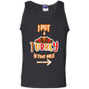 Funny Turkey Thanksgiving Pregnancy Announcement Unisex Tank Top