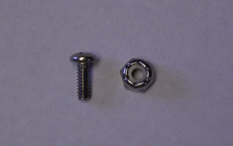 Nut & Screw options for TX-12 or TX-6 - 6-32 X 1/2  (1 SET) #20106  2pk