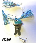 Shock-Wave Bait Rig #53107 chrome/blue scales