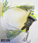 Shock-Wave Bait Rig #53108 chrome/chartreuse scale