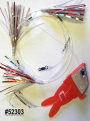 Shock-Wave Bait Rig #52303 red/white glow tape