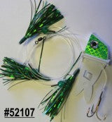 Shock-Wave Bait Rig, #52107 white/green scales