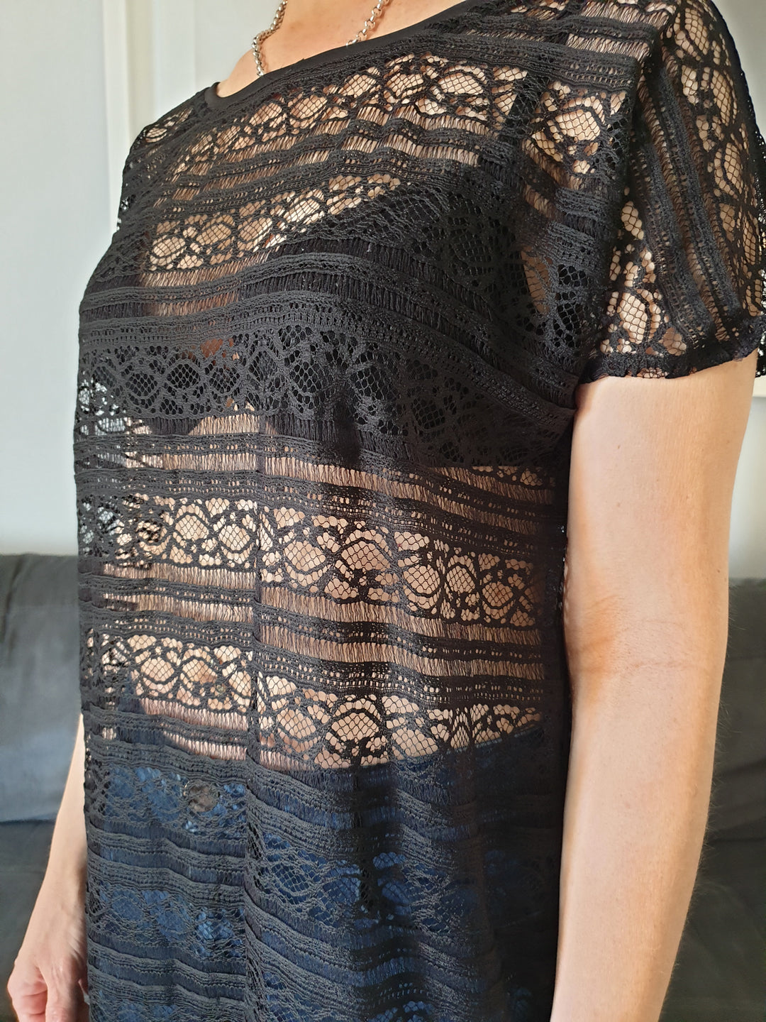 Sexy lace cover-up tunic
