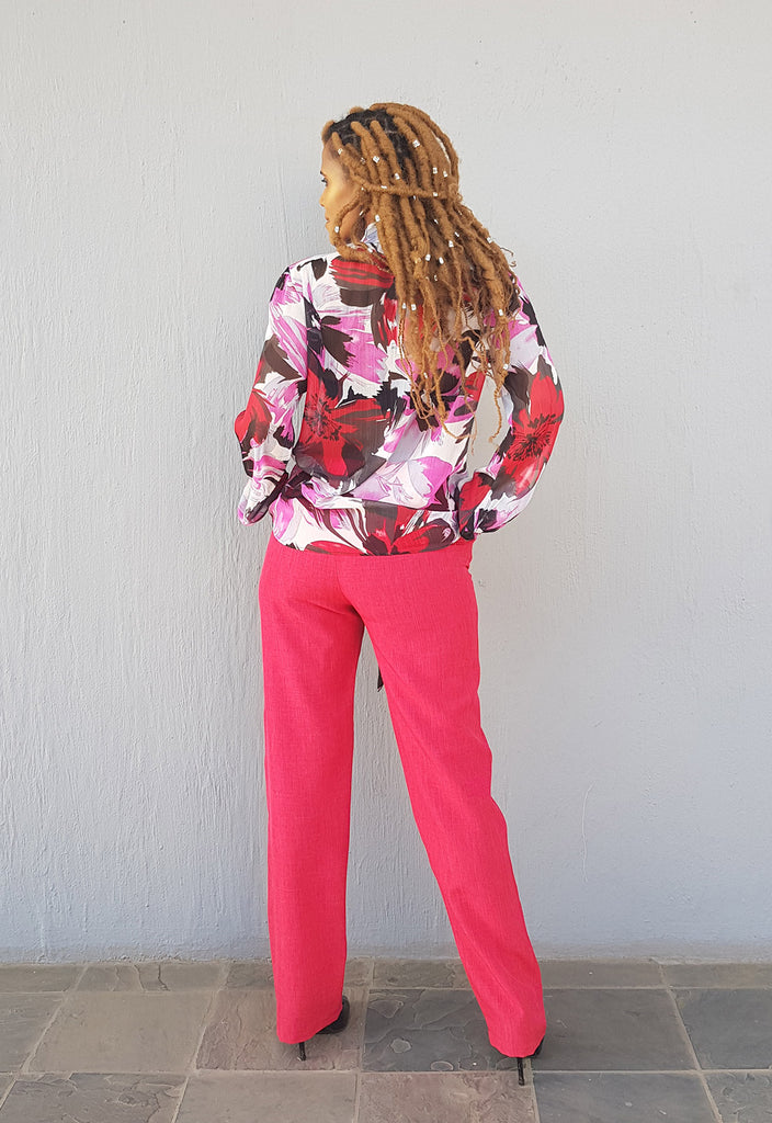 Pink Pussybow Blouse