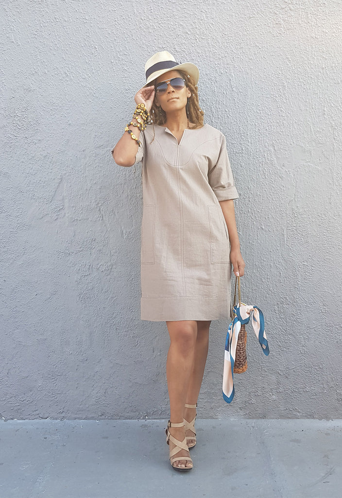 The Linen Tunic Dress