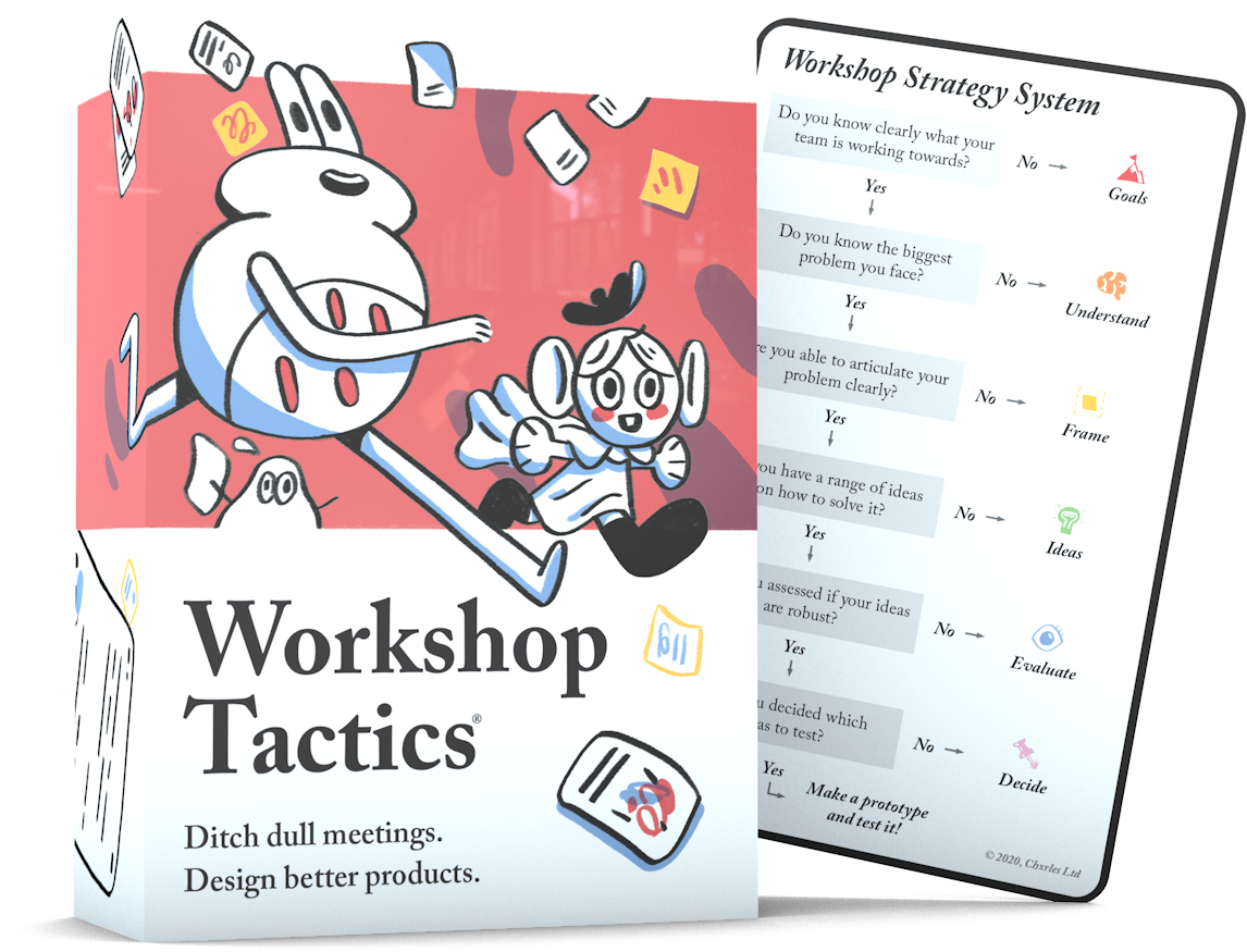 Workshop Tactics comes with the Workshop Strategy Card system that helps you pick the right tactic