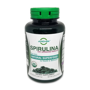 100% Spirulina 1000 mg Tablets x 180 Count
