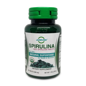 Organic Spirulina 500 mg Tablets x 100 Count travel size bottle
